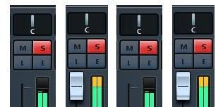 set mixing level meters
